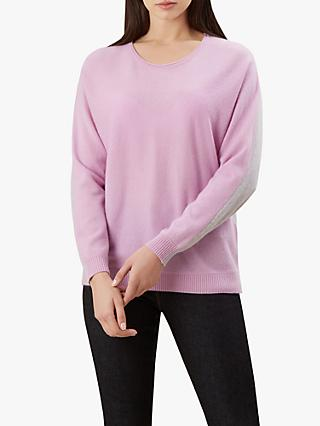 Hobbs Georgia Wool Jumper, Lilac Grey
