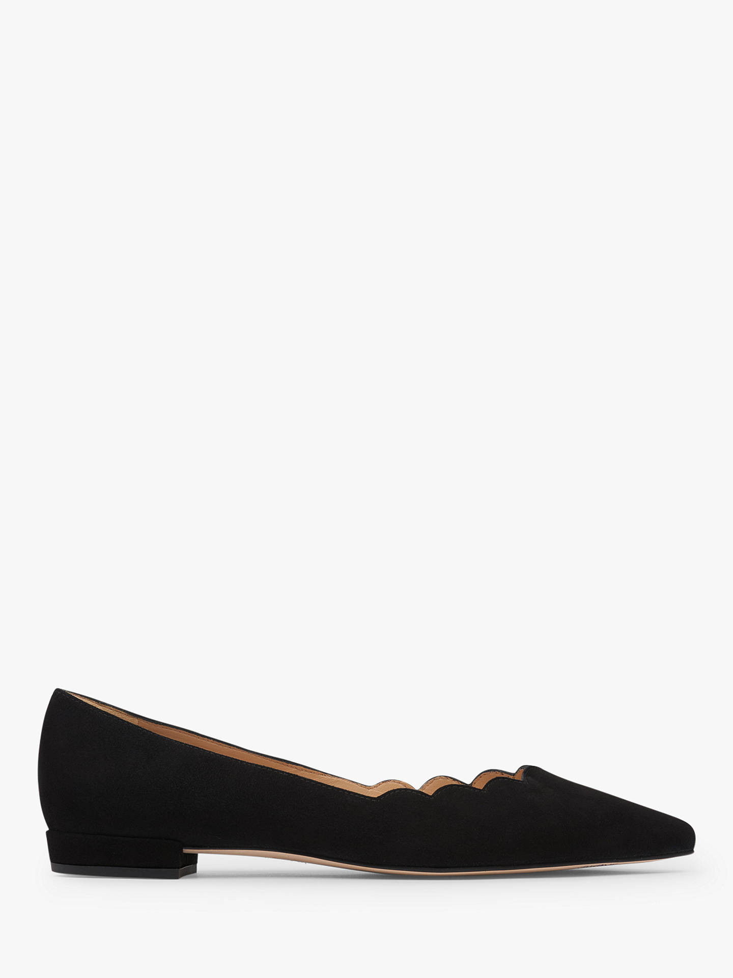 Buy L.K.Bennett Justine Flat Court Shoes, Black Leather, 7 Online at johnlewis.com