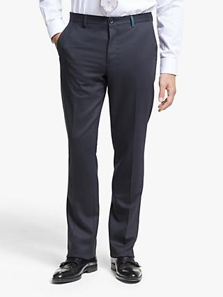 Paul Smith Flecked Wool Blend Tailored Fit Suit Trousers, Navy/Red