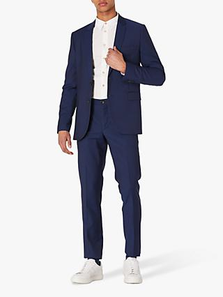 Paul Smith Wool Mohair Tailored Fit Suit Trousers, Bright Navy