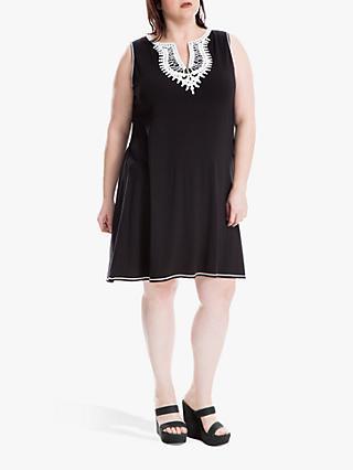 fb379fdf17aee5 Max Studio + Sleeveless Contrast Neck Jersey Dress