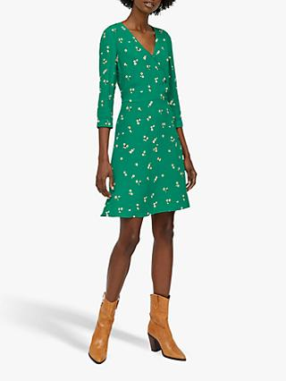 Warehouse Verity Floral Dress, Green