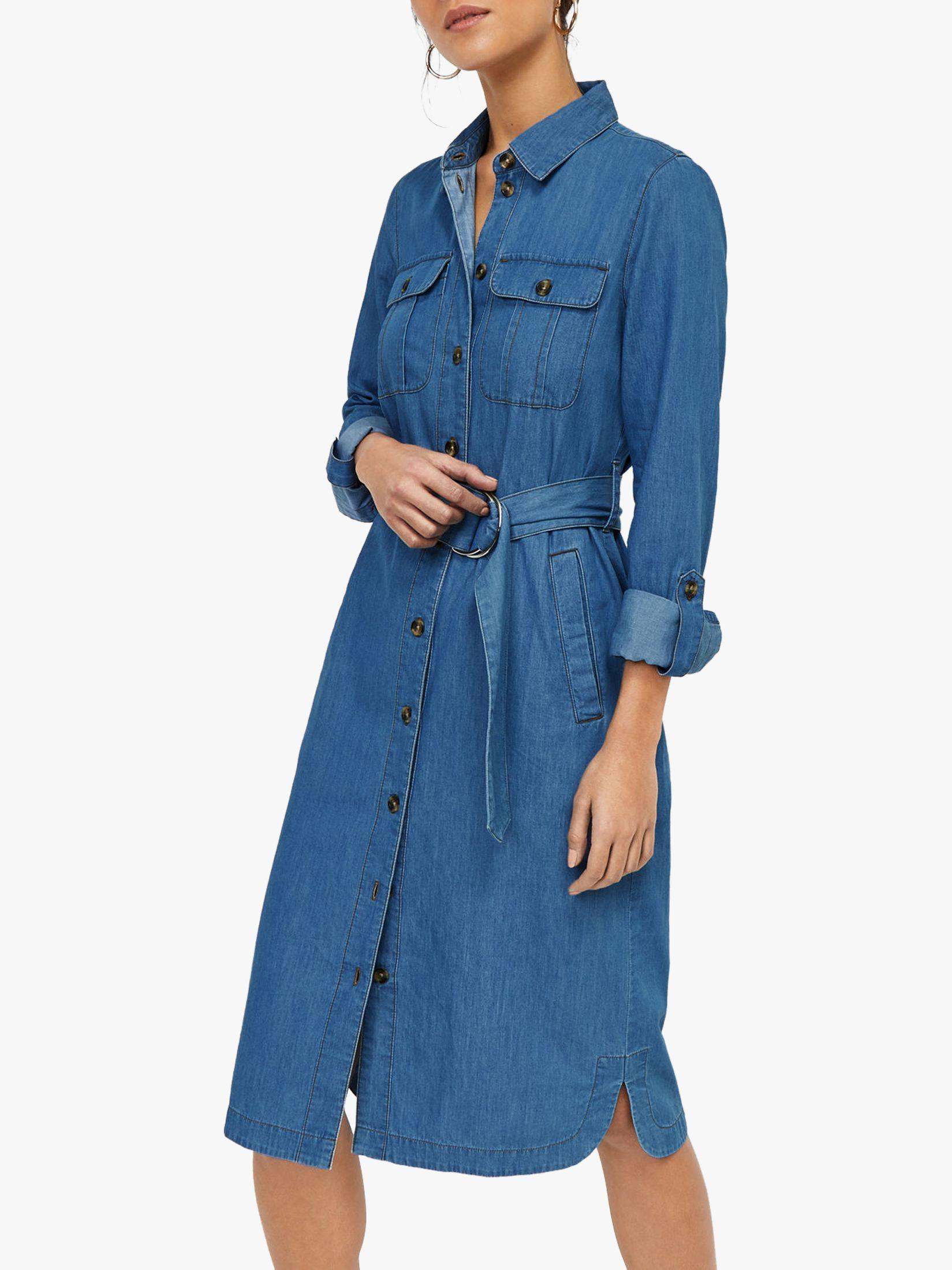 warehouse maxi denim dress