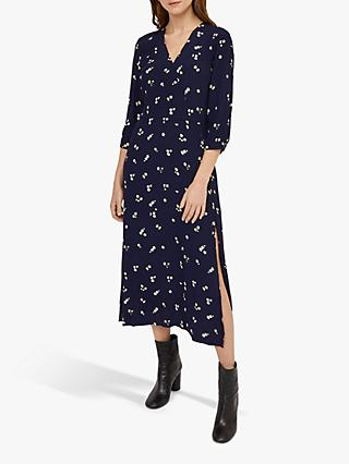Warehouse Verity Ditsy Floral Dress, Navy