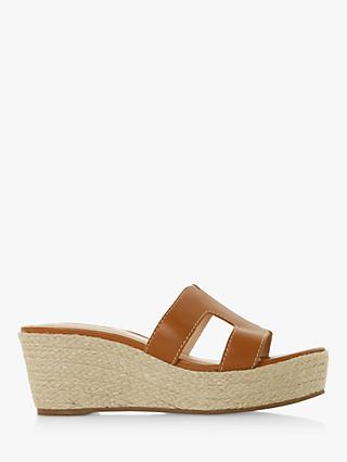 8447b15bb8707 Dune Kianni Wedge Heel Slider Sandals
