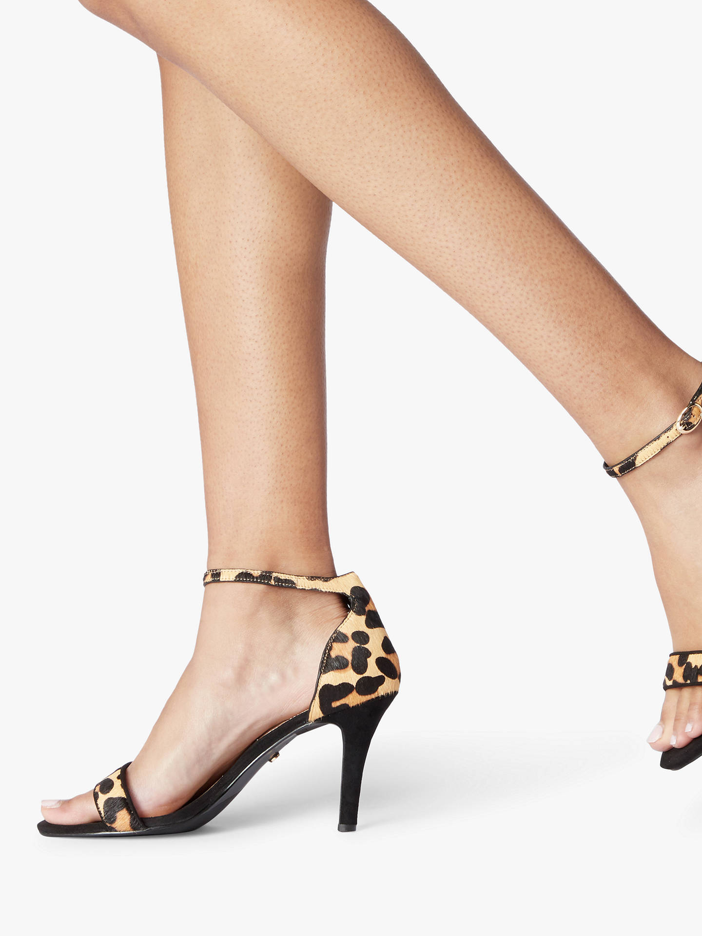 1ca98ea63c9 Dune Mydro Wide Fit Stiletto Heel Sandals, Leopard Print Leather at ...