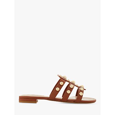 Dune Nell Wide Fit Stud Detail Slip On Sandals