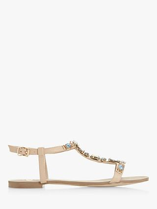 Dune Natally T-Bar Embellished Sandals