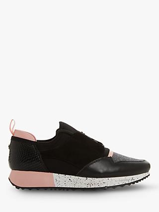 Dune Eppic Contrast Panel Lace Up Trainers