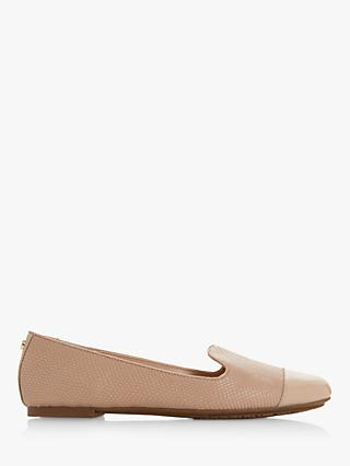 Dune Grandd Ballerina Pumps, Nude Leather