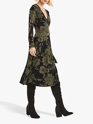 8192289966 Oasis Bloom Wrap Dress