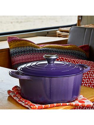 Buy Le Creuset Signature Cast Iron Round Casserole, Ultra Violet, 24cm Online at johnlewis.com