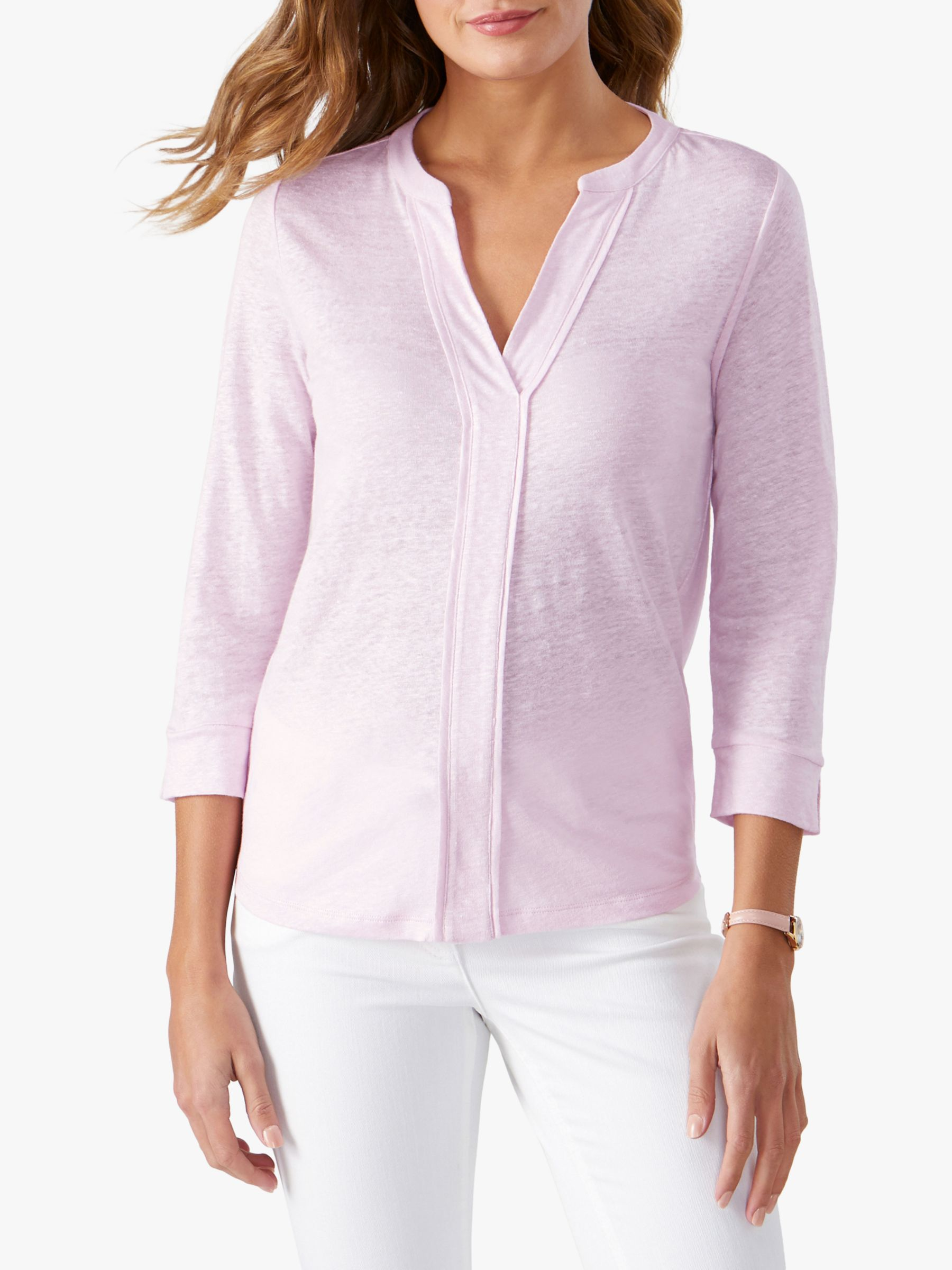 Pure Collection Pure Collection Linen Jersey V-Neck Top