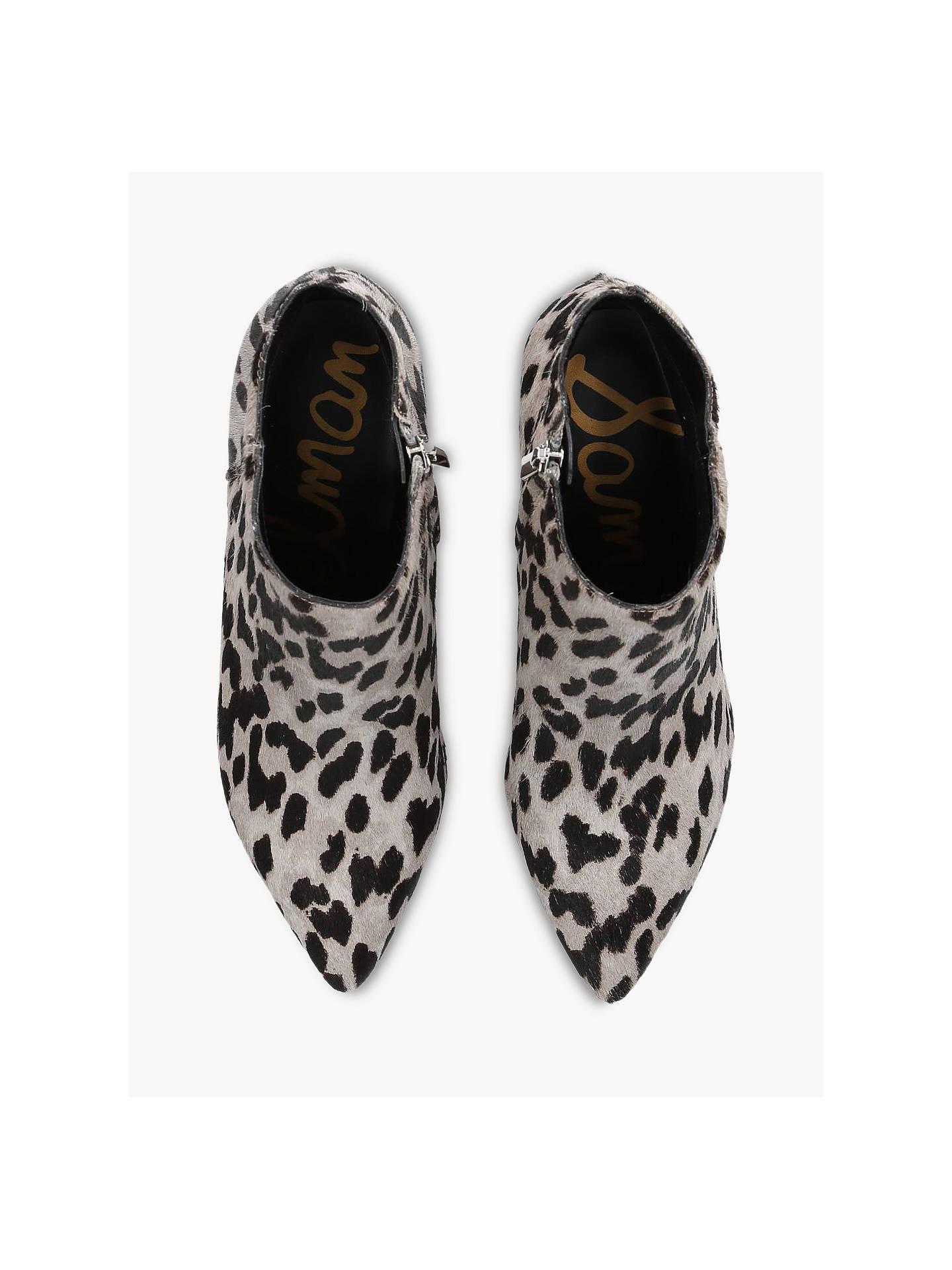 02beaa828e7 Sam Edelman Kinzey Ankle Boots, Mid Grey Animal Print at John Lewis ...