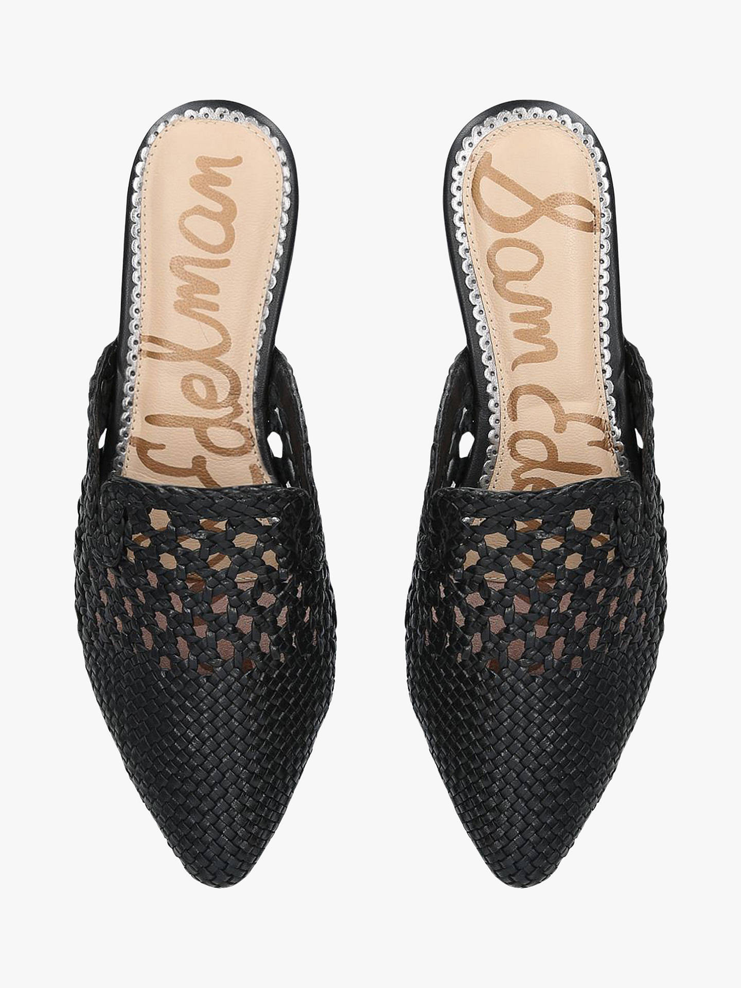 c147a4135 Sam Edelman Clara Pointed Woven Leather Mules at John Lewis   Partners