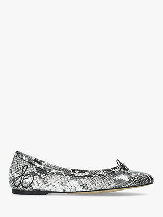 Buy Sam Edelman	Felicia Ballet Pumps, Black Snake, 4 Online at johnlewis.com