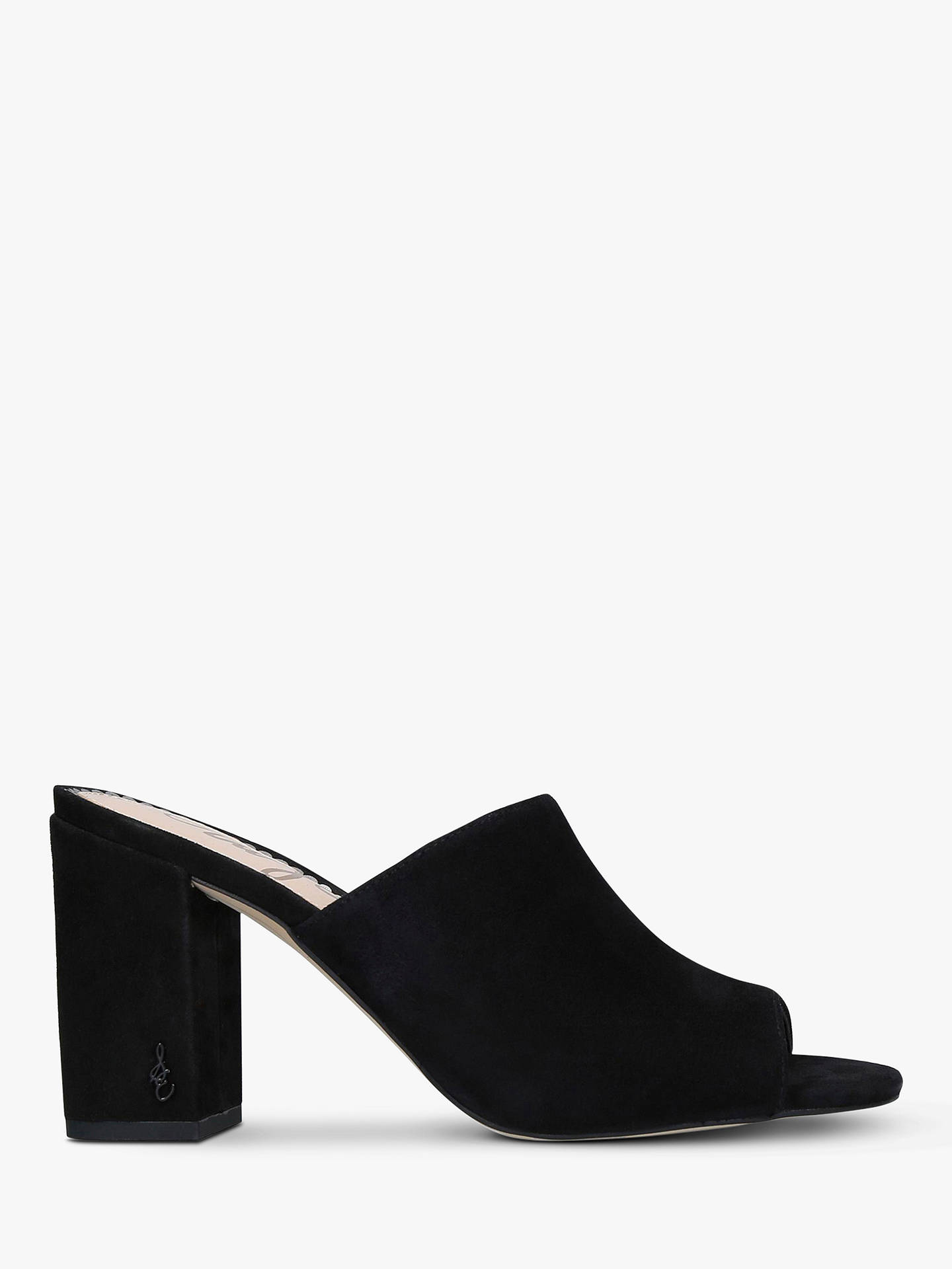34ae72314ab44 Buy Sam Edelman Orlie Suede Block Heel Mule Sandals, Black, 8 Online at  johnlewis ...
