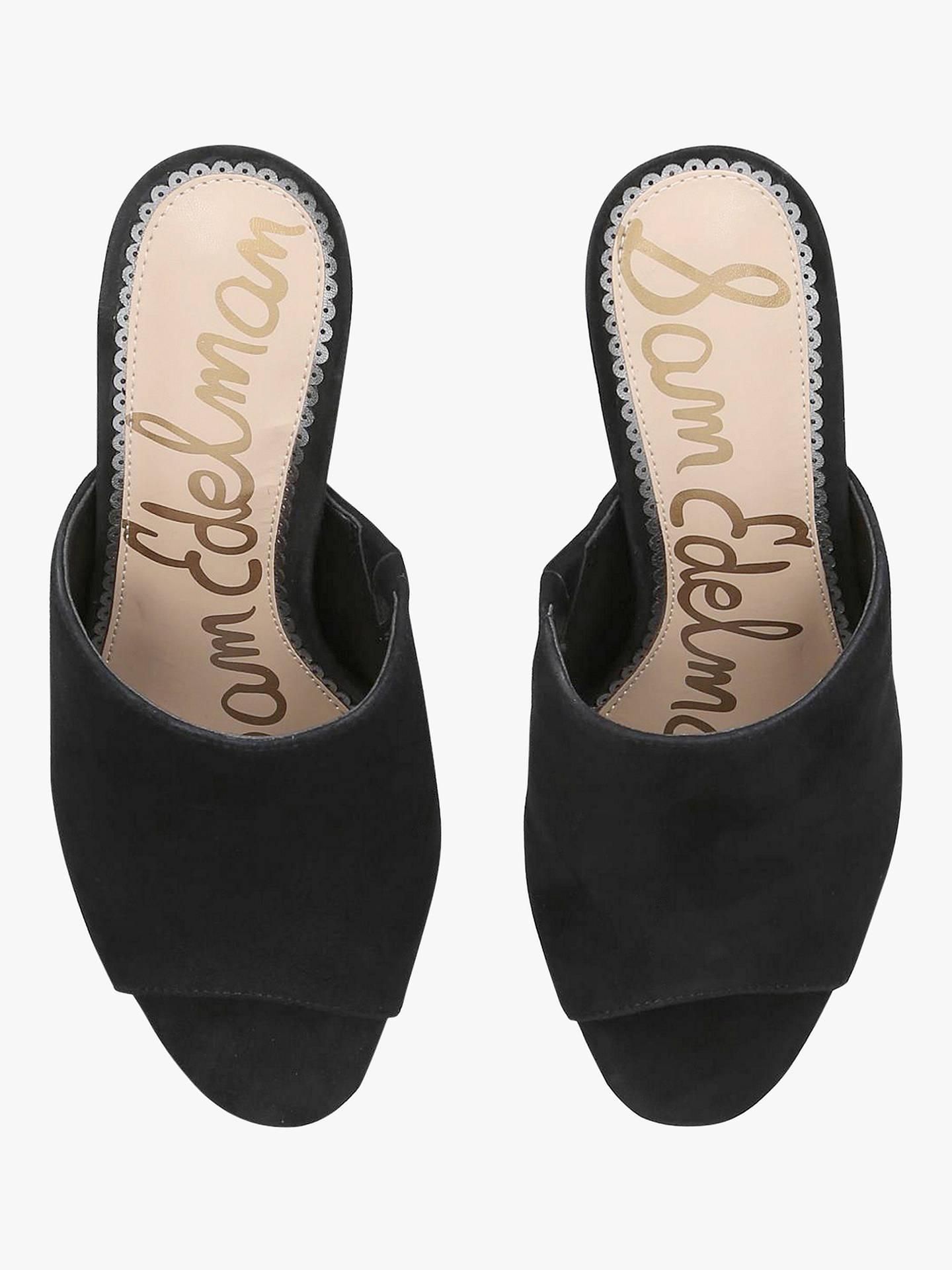 c1cc72a156f Sam Edelman Orlie Suede Block Heel Mule Sandals, Black at John Lewis ...