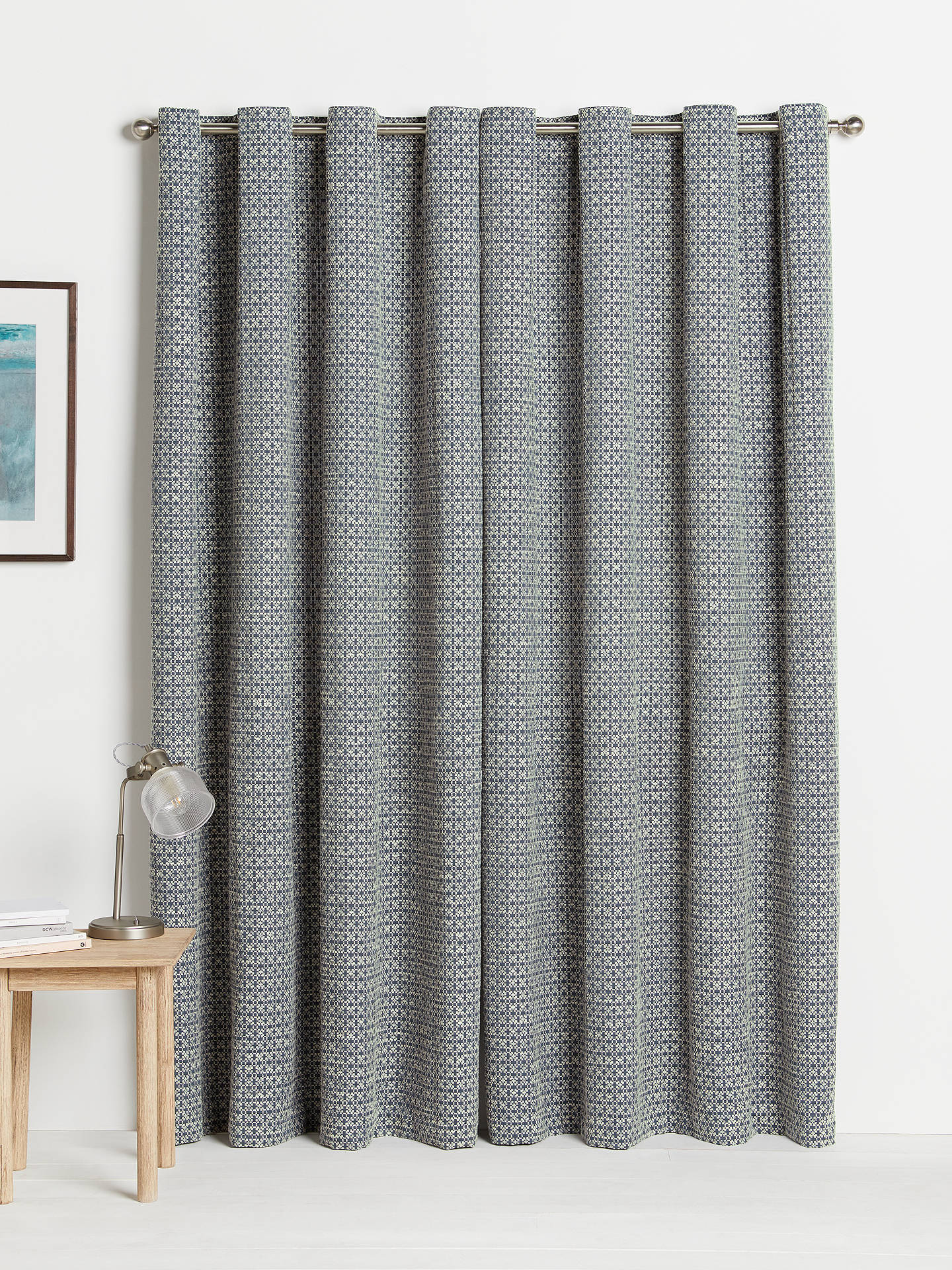 Stupendous Croft Collection Rona Pair Lined Eyelet Curtains Loch Blue Theyellowbook Wood Chair Design Ideas Theyellowbookinfo