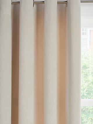 John Lewis & Partners Lustre Velvet Pair Lined Eyelet Curtains
