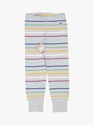 Polarn O. Pyret Baby Stripe Leggings, Grey