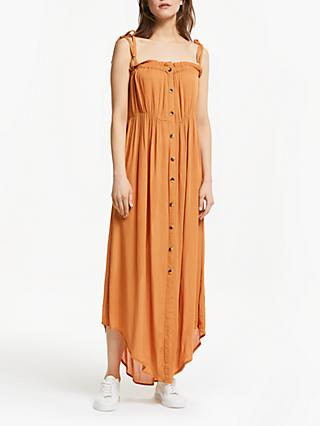 Y.A.S Yaselina Ruffle Maxi Dress, Burnt Orange