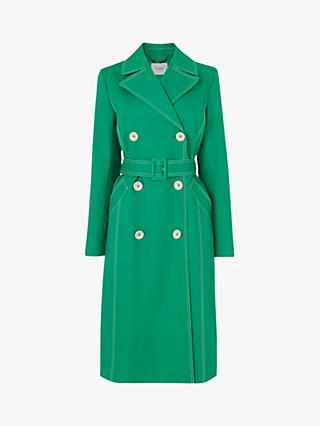 L.K.Bennett Kaylee Trench Coat, Green