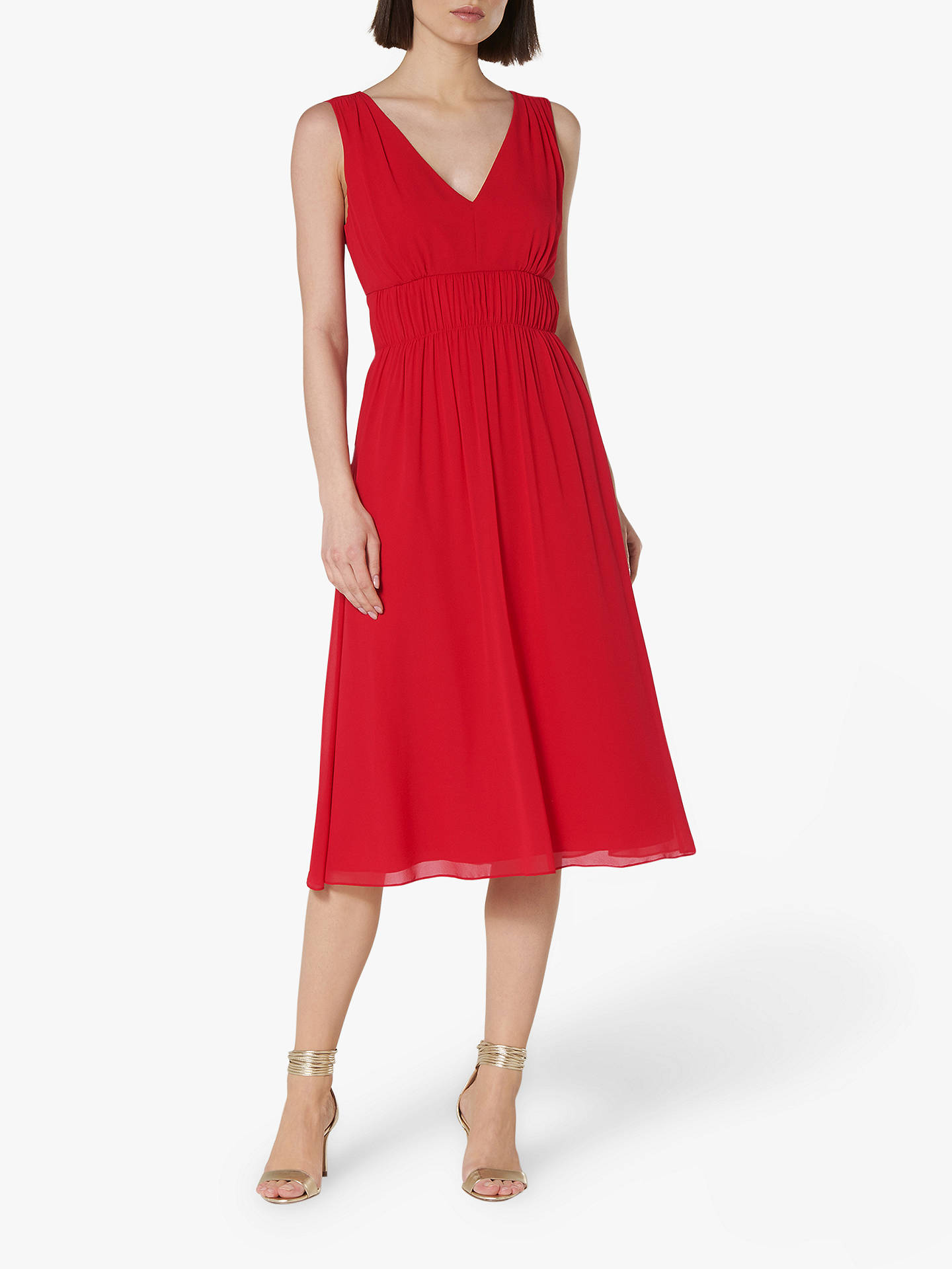 Buy L.K.Bennett Greca V-Neck Bridesmaid Dress, Red, 14 Online at johnlewis.com