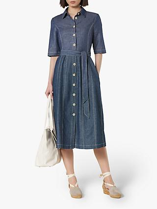 L.K.Bennett Suze Denim Dress, Blue Denim
