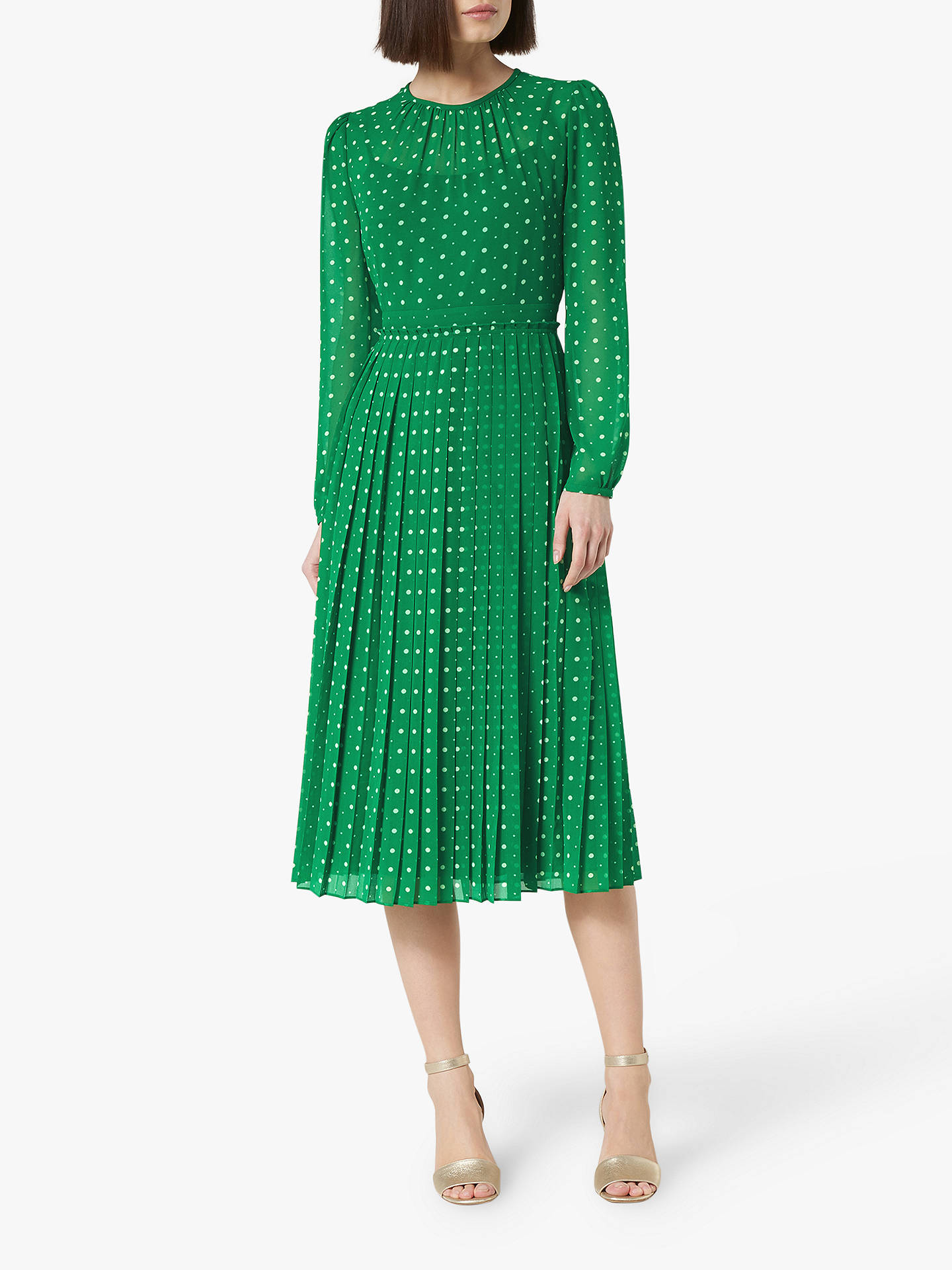 Buy L.K.Bennett Avery Spot Dress, Green/Multi, 12 Online at johnlewis.com