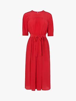 L.K.Bennett Reina Tie Waist Dress, Red