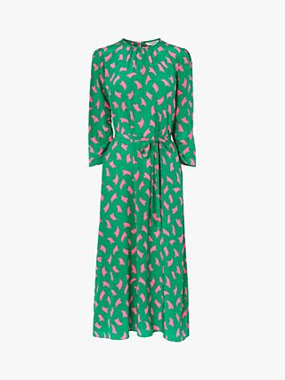 L.K.Bennett Dorothy Sail Print Dress, Green/Multi