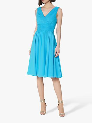 L.K.Bennett Lori Bridesmaid Silk Dress, Light Blue