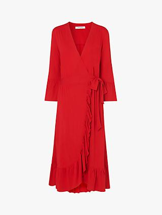 L.K.Bennett Vika Wrap Dress, Red