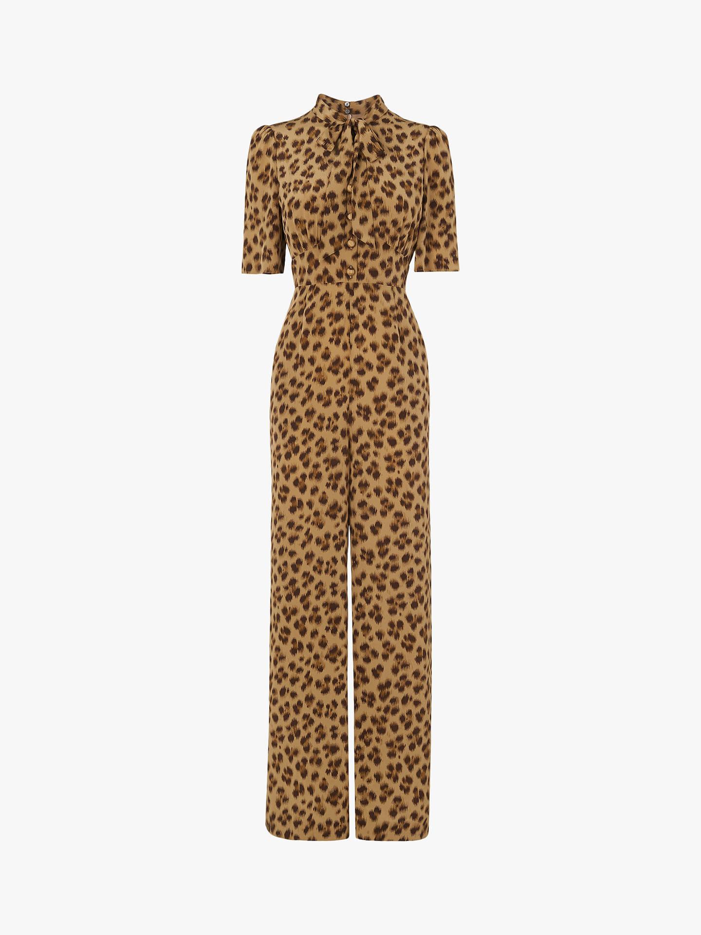 ee0cf161263e L.K.Bennett Marmont Leopard Print Silk Jumpsuit