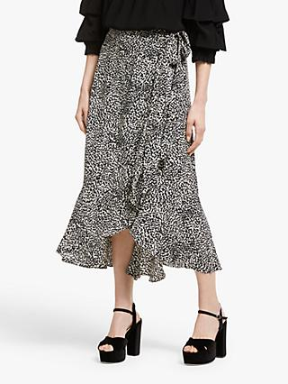 Somerset by Alice Temperley Mini Leopard Print Skirt, Nude