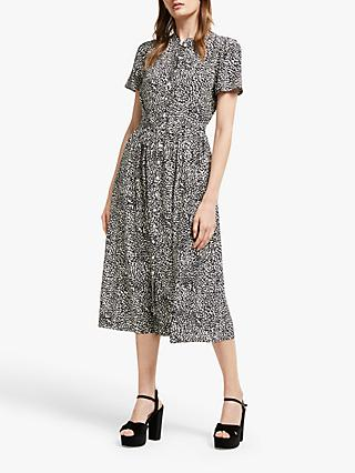 Somerset by Alice Temperley Leopard Print Shirt Dress, Nude