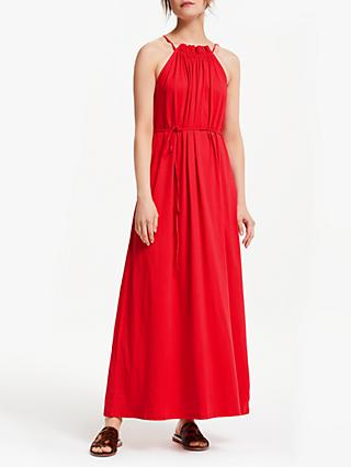 People Tree Stacie Halterneck Maxi Dress, Red