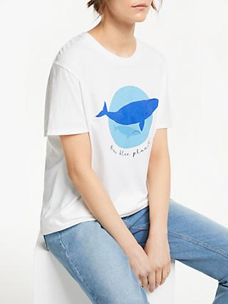 People Tree X BBC Earth Our Blue Planet Whale T-Shirt, White