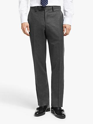 John Lewis & Partners Merino Flannel Tailored Suit Trousers, Grey
