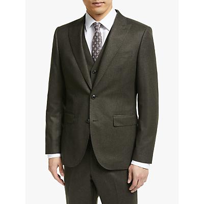 John Lewis & Partners Merino Flannel Tailored Suit Jacket, Brown