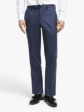 John Lewis & Partners Merino Flannel Tailored Suit Trousers, Blue