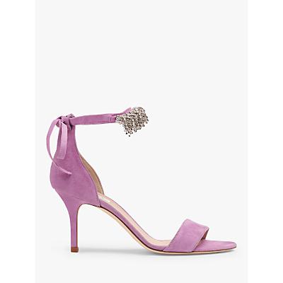 L.K.Bennett Elektra Jewelled Sandals, Lilac Leather