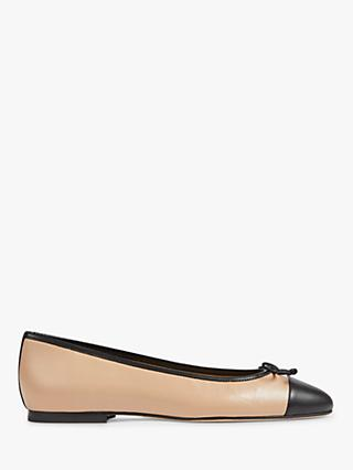L.K.Bennett Kara Flat Bow Pumps, Black Leather