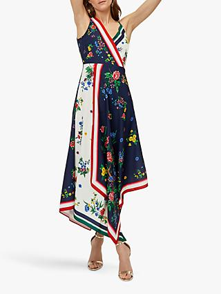 Warehouse Mixed Floral Summer Dress, Multi