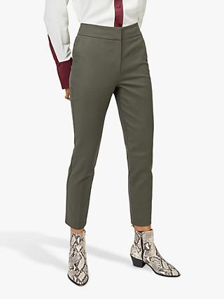 Warehouse Cotton Cigarette Trousers, Khaki