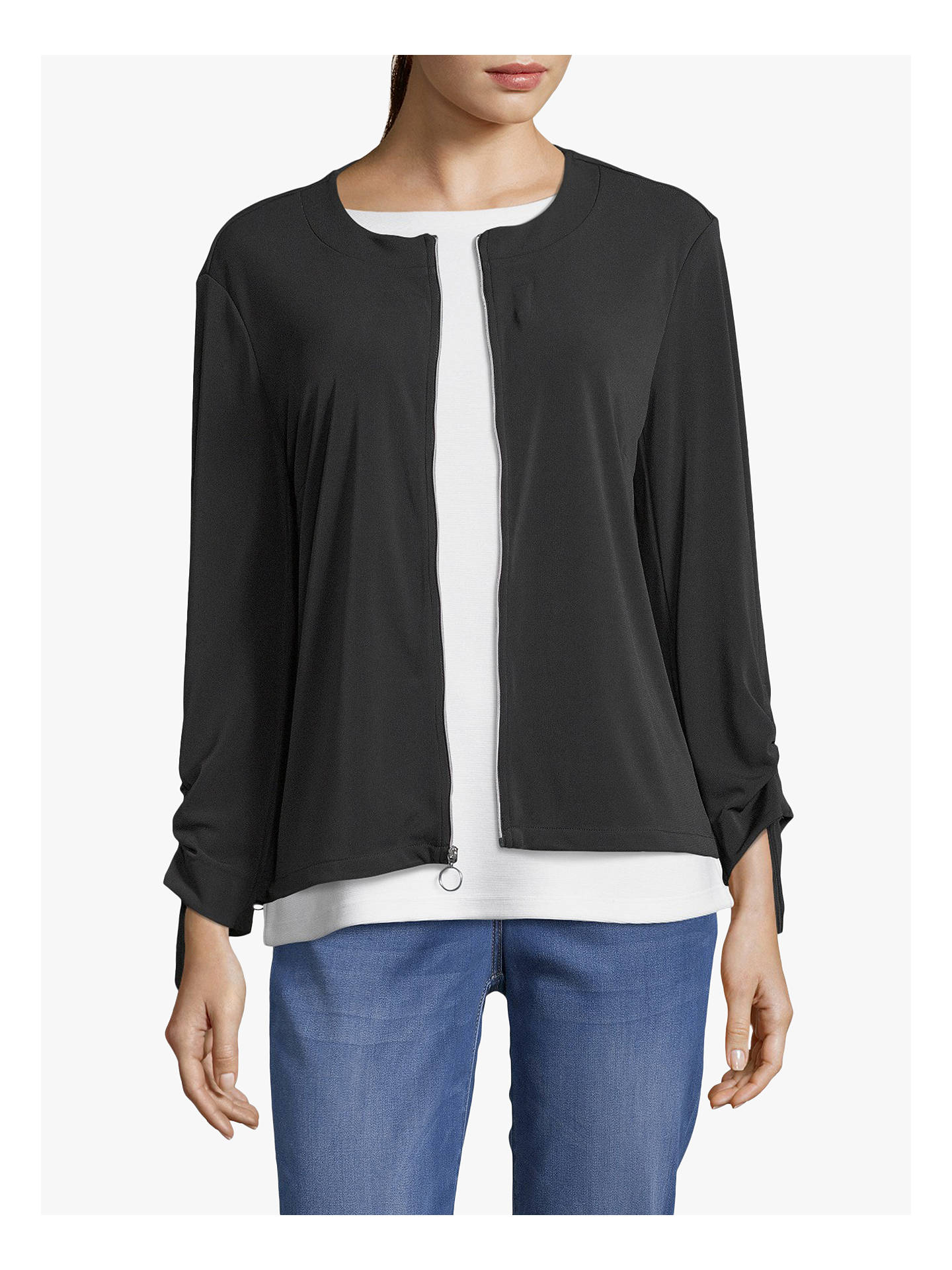 Buy Betty Barclay Blouson Jacket, Black, 10 Online at johnlewis.com