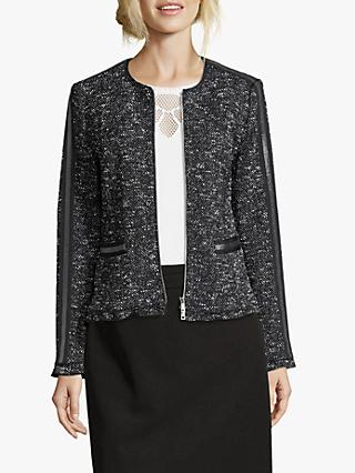 Betty Barclay Tweed Jacket, Dark Blue/Cream
