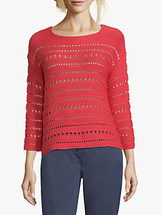 Betty Barclay Crochet Knit Jumper, Hibiscus Red