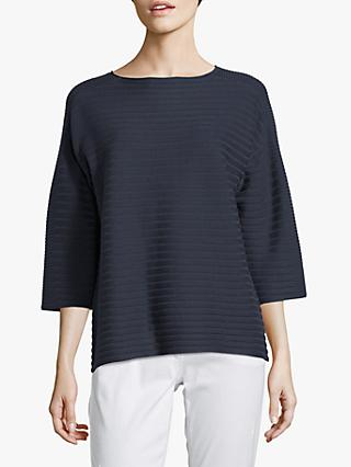 Betty Barclay Rib Knit Jumper, Dark Sky